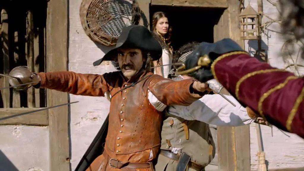 Guadalmedina, a punto de matar a Alatriste y a la bella actriz María de Castro