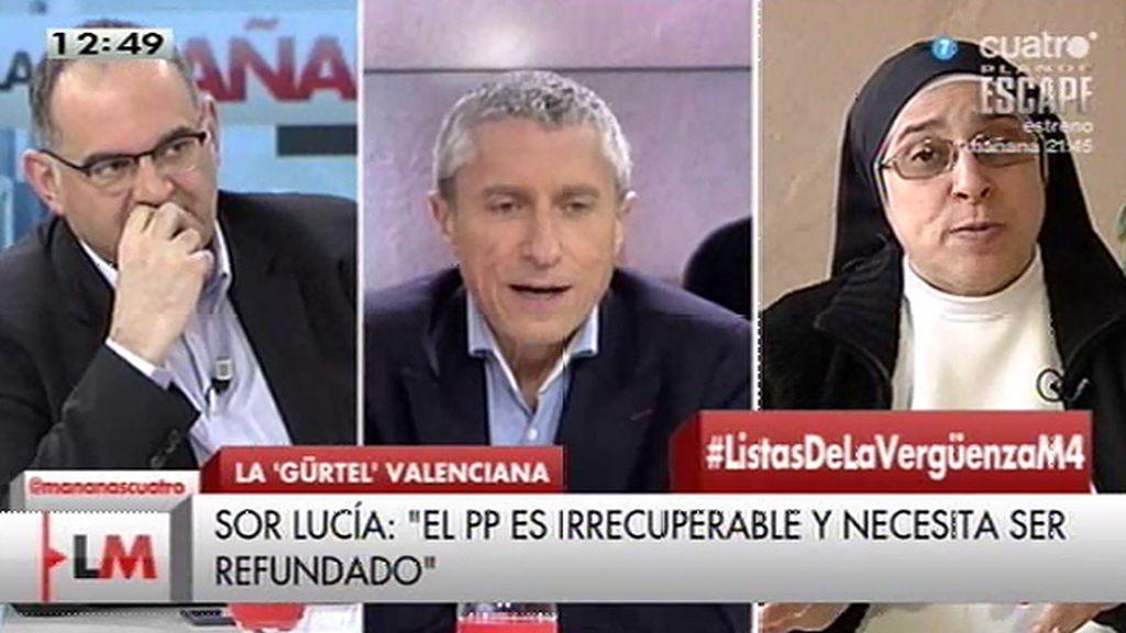 """M. Miralles, a Sor Lucía: """"¿Por qué unos tienen que ir a la cárcel y otros no?"""""""
