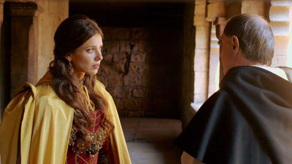 María de Castro le cuenta a Bocanegra que se celebrará una boda secreta