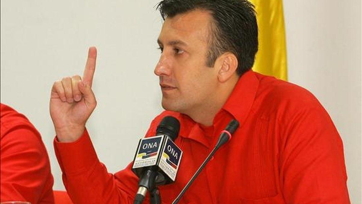 """""""Si alguien ha transmitido odio en Venezuela, lejos de las palabras de paz y convivencia, ha sido la Conferencia Episcopal"""", señaló El Aissami. EFE/Archivo"""