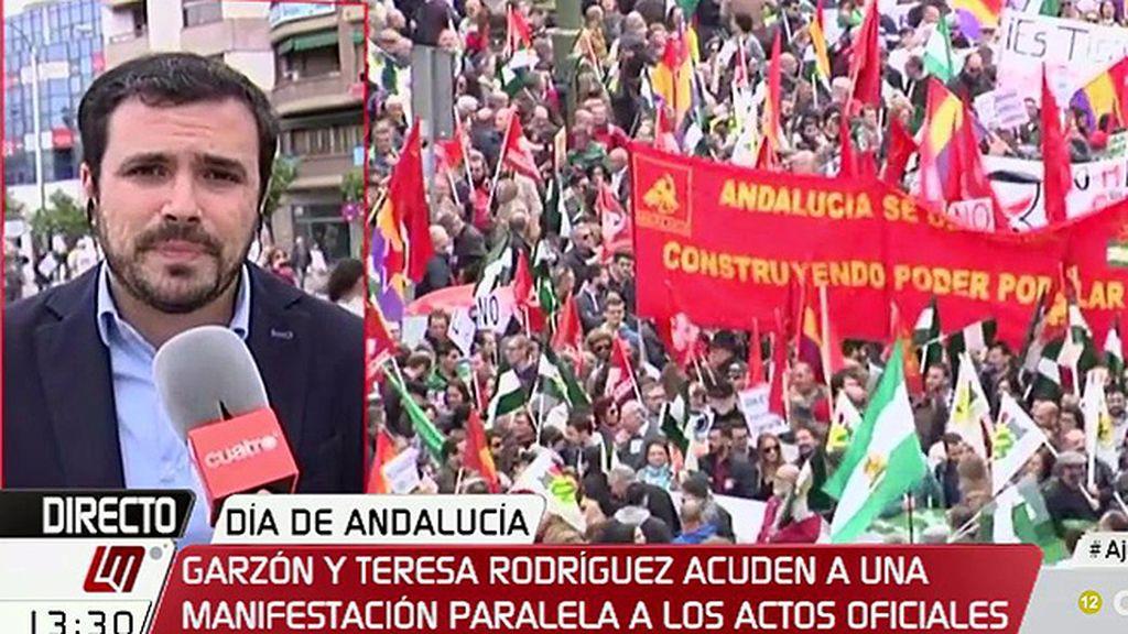 """A. Garzón: """"Mientras tengamos gobiernos que no hacen sino ponerse a merced de las grandes empresas, tenemos un problema"""""""