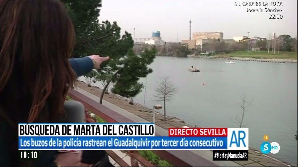 Caso Marta del Castillo: Dos buzos rastrean la zona próxima al puente de la Barqueta