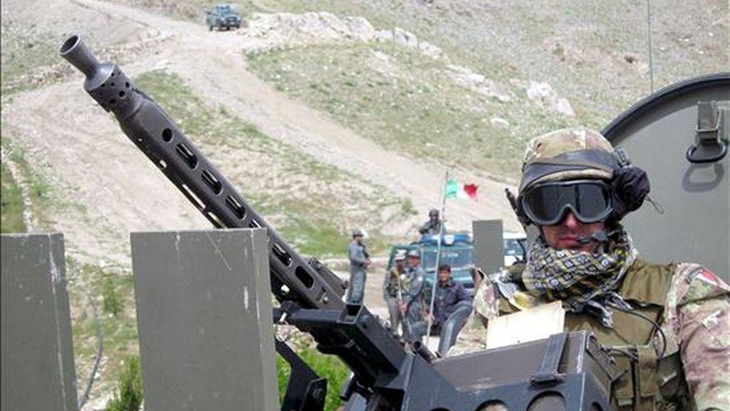 Un soldado italiano de la Fuerza Internacional de Asistencia a la Seguridad en Afganistán (ISAF). EFE/Archivo