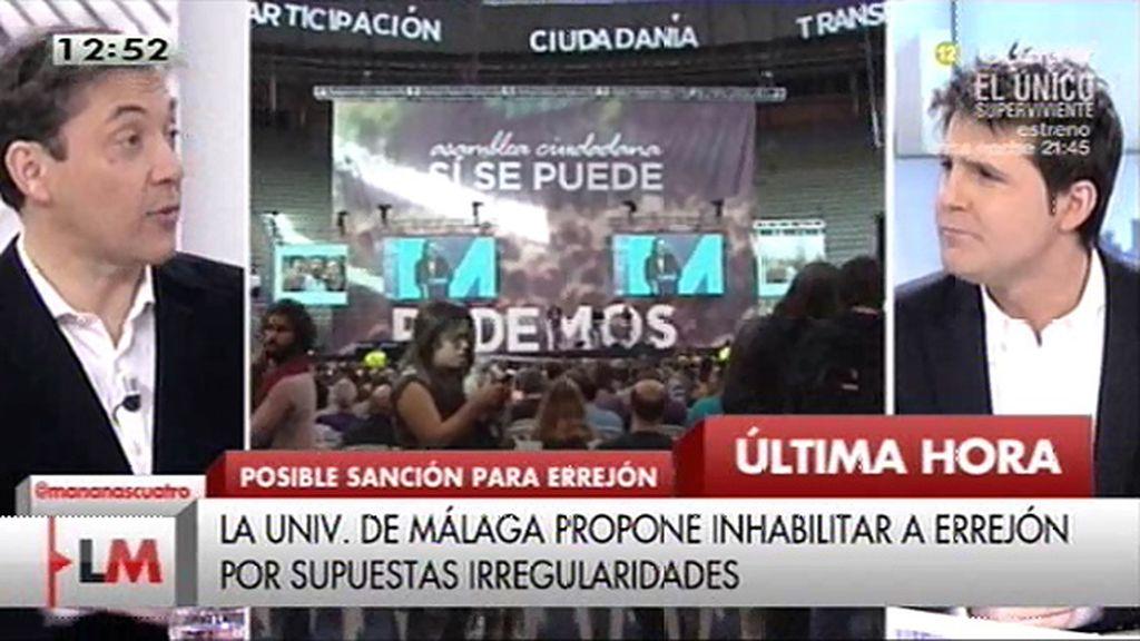 Se filtra la propuesta para inhabilitar a Errejón como profesor de la Universidad de Málaga
