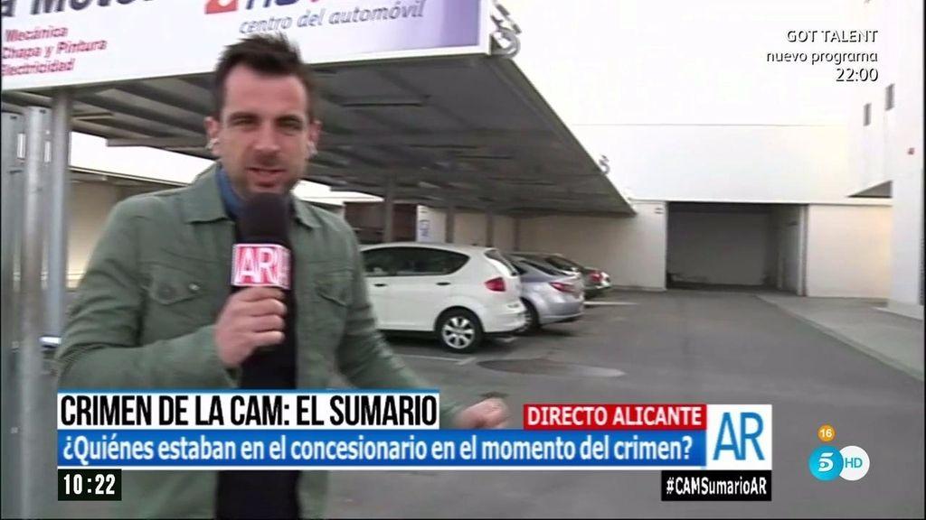 ¿Quién estuvo en el concesionario de Miguel López en el momento del asesinato?