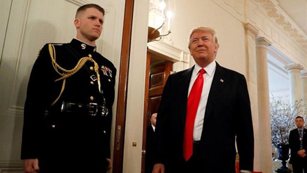 """Donald Trump promete un """"histórico"""" aumento del gasto militar para """"ganar guerras"""""""