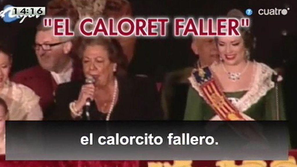 El 'caloret' de Rita Barberá, también con música