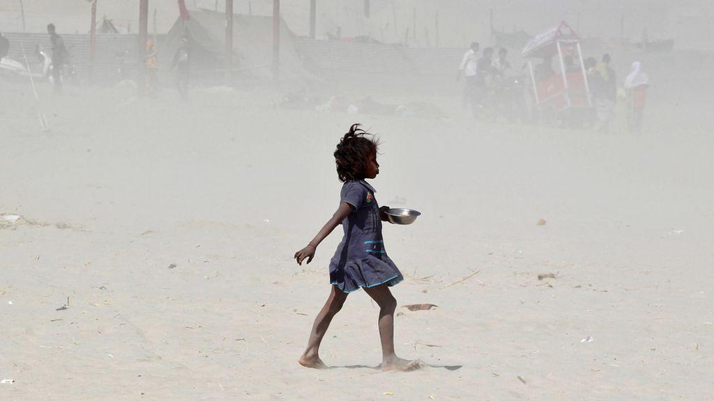 Tormenta de polvo en la India