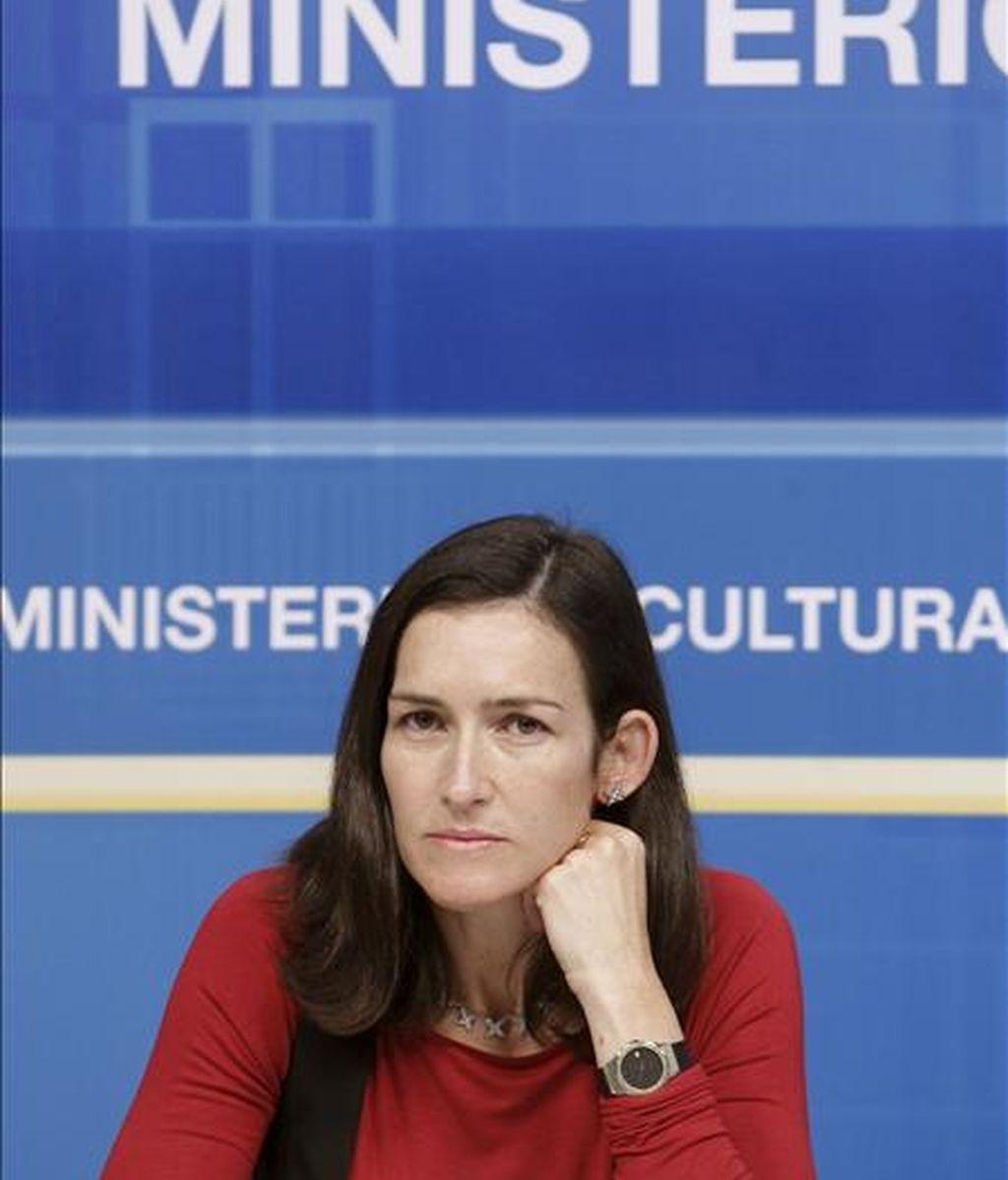 La ministra de Cultura, Angeles González-Sinde. EFE/Archivo