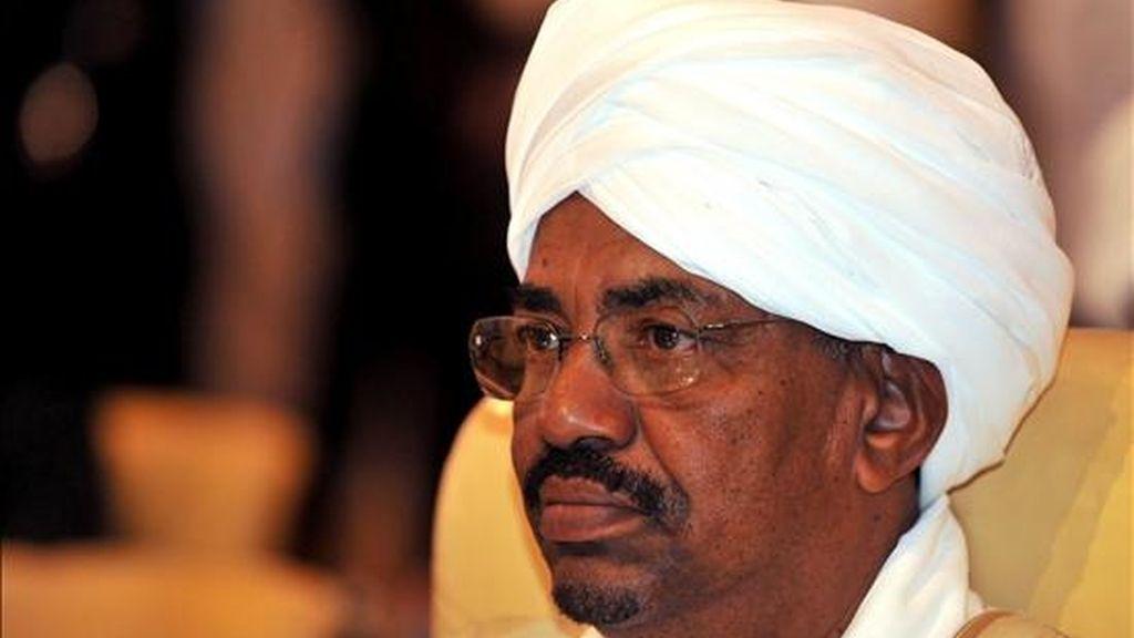 El presidente sudanés, Omar Al Bachir, en la XXI cumbre de la Liga Árabe se cerró hoy en Doha. EFE