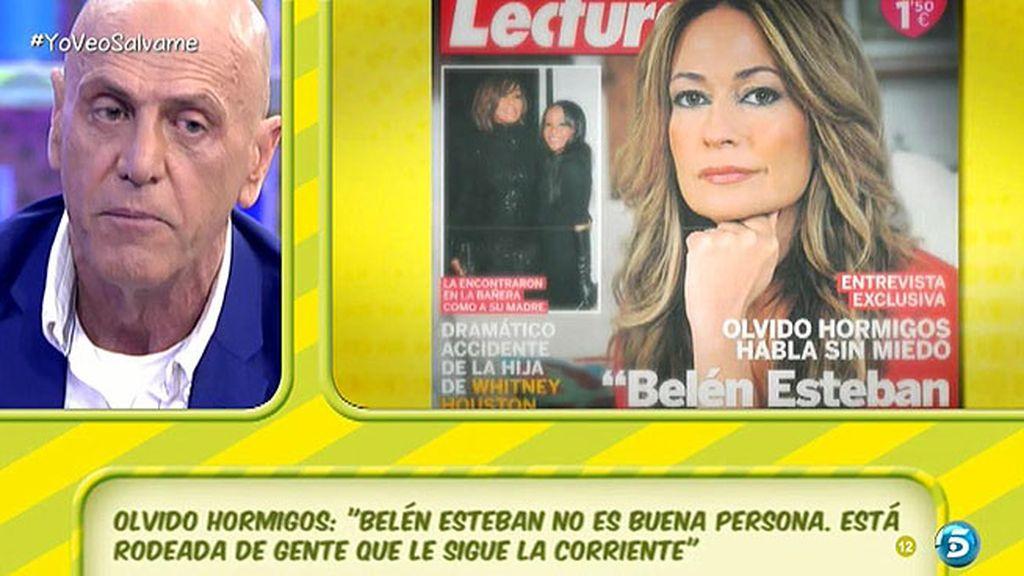 """Matamoros: """"Olvido es la persona que más ha socavado la imagen de Belén Esteban"""""""