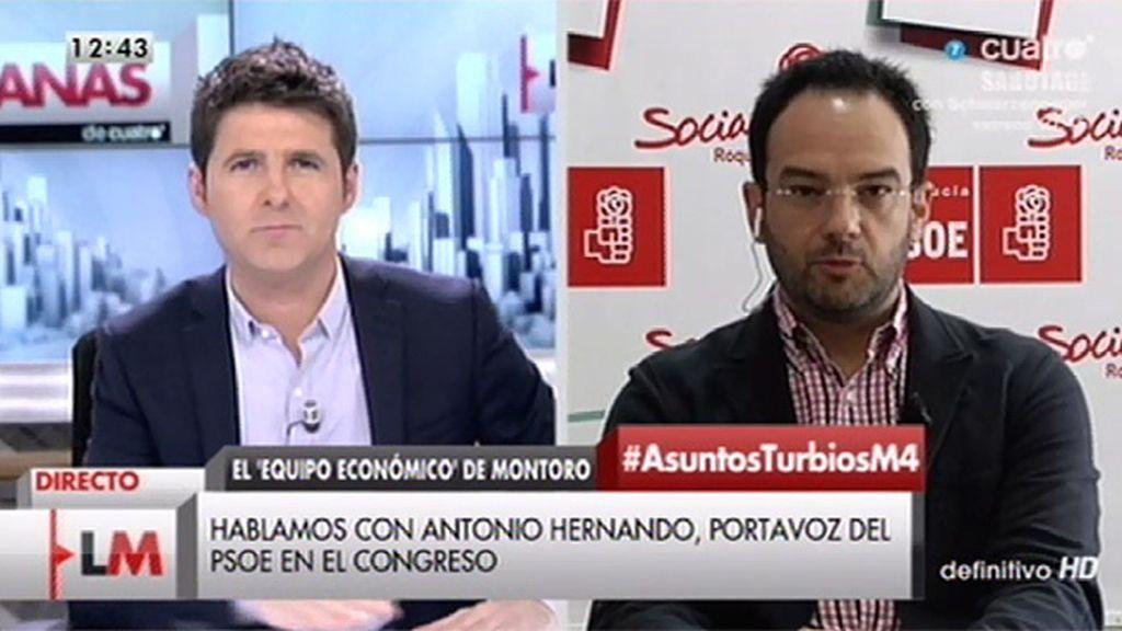"""A. Hernando, del despacho que fundó Montoro: """"Anticorrupción está viendo si es ilegal, pero desde luego es inmoral"""""""
