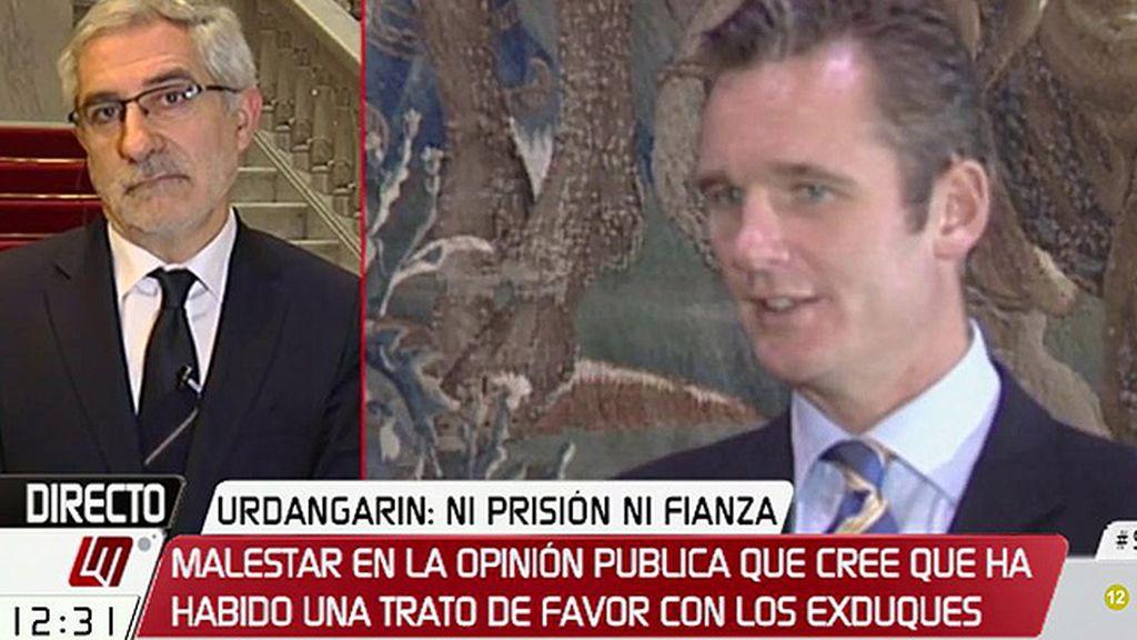 """Gaspar Llamazares: """"Parece que tener sangre azul es un eximente"""""""