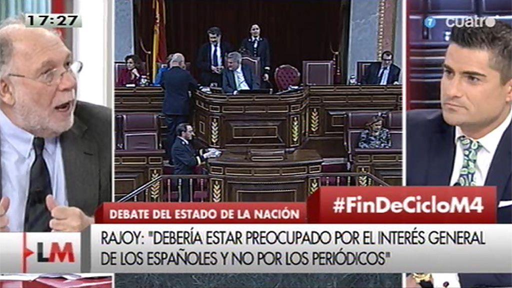 """Ekaizer: """"Veo a Rajoy de un nivel de agresividad que sólo refleja su desconcierto"""""""