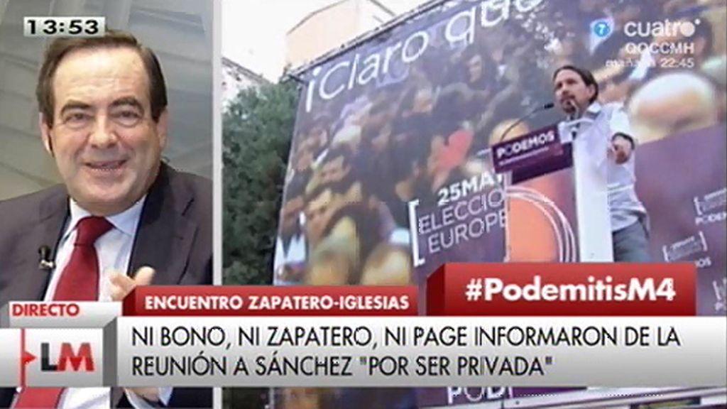 """Bono explica su reunión con Zapatero, Iglesias y Errejón: """"No se buscaba un pacto"""""""