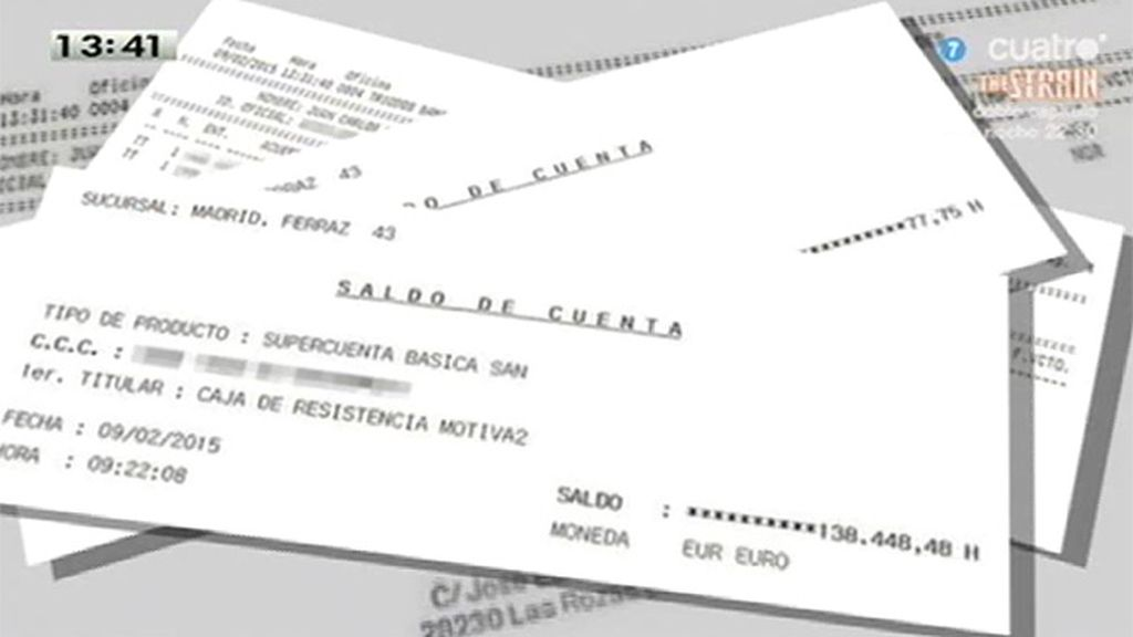 Monedero presenta sus extractos bancarios