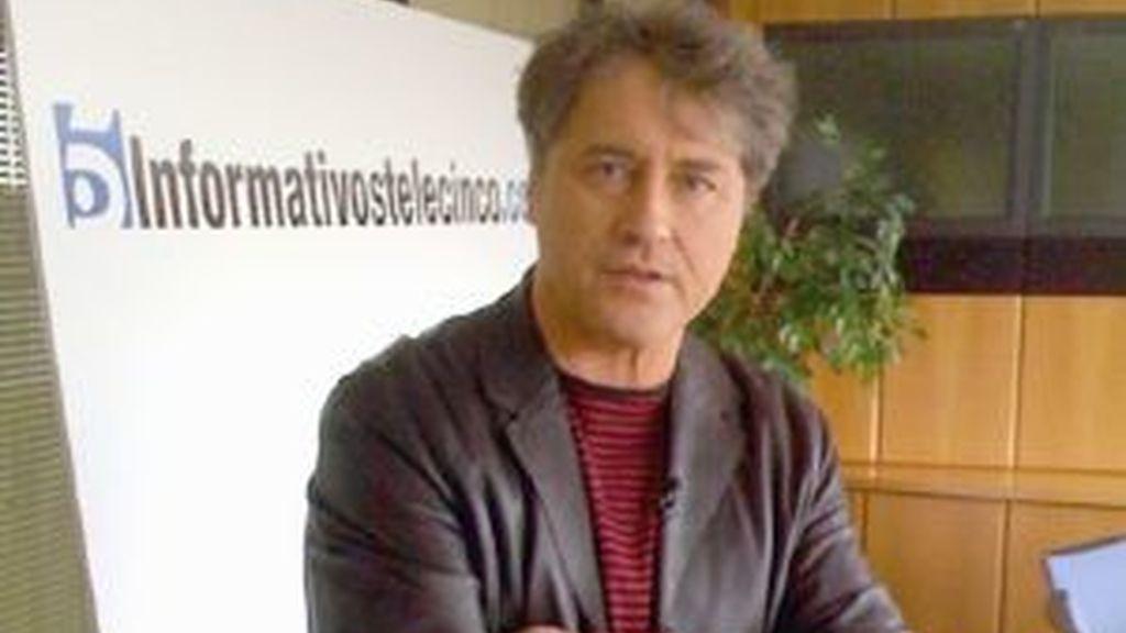 Manuel Rivas ha visitado Informativos Telecinco. Vídeo: Informativos Telecinco