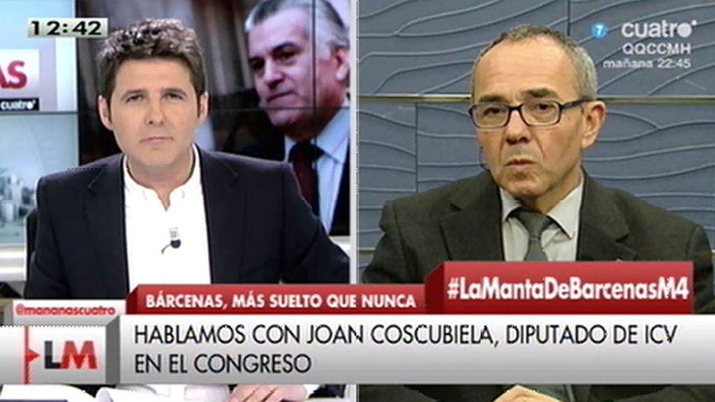 """J. Coscubiela: """"Desgraciadamente, hemos superado todos los rankings de corrupción"""""""