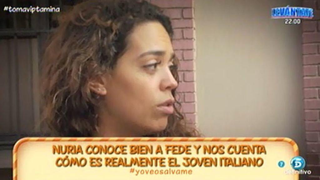 """Nuria, expretendienta de Fede: """"Él busca fama, dinero y diversión"""""""