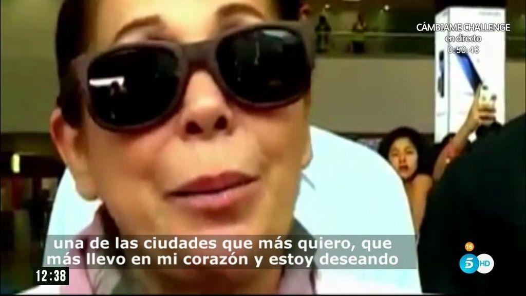 Isabel Pantoja vuelve, emocionada, al país donde adoptó a su hija Chabelita