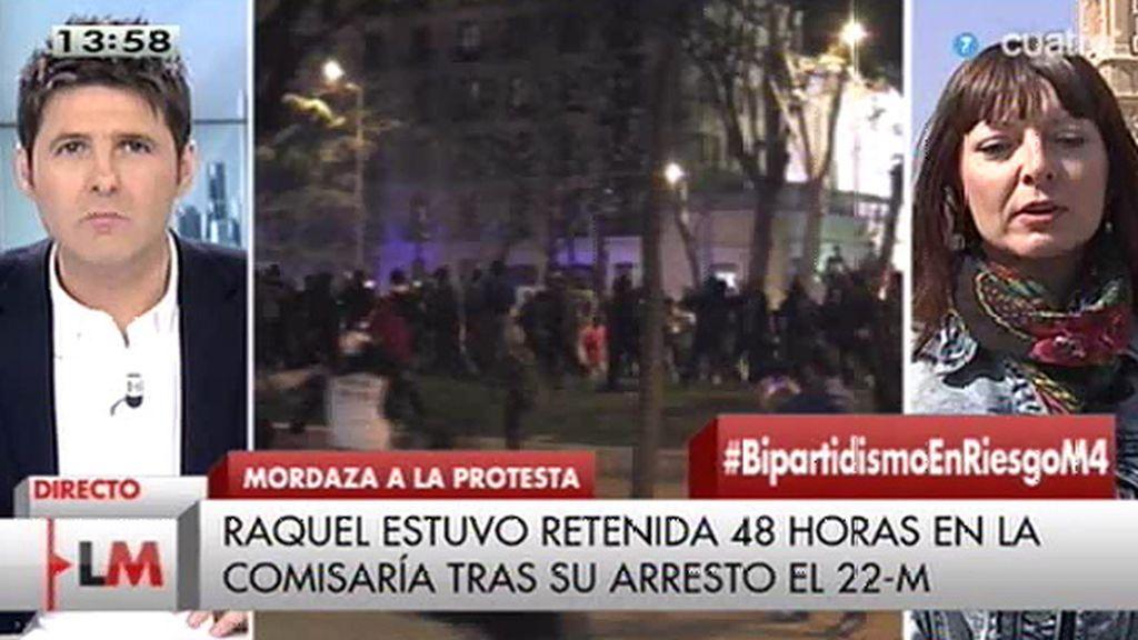 """Raquel, detenida en las 'marchas de la dignidad': """"Me piden cuatro años de cárcel"""""""