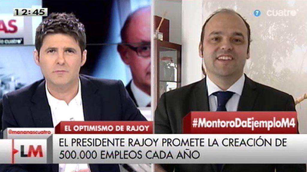 """J.C. Díez, de Rajoy: """"Le escuchaba y pensaba que vivía en Noruega"""""""