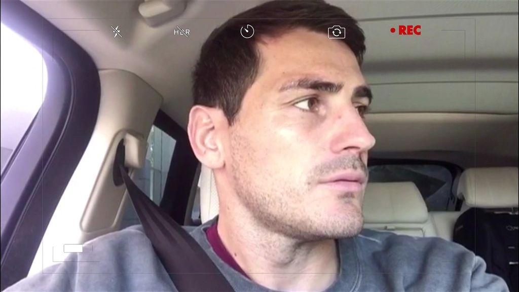 Iker Casillas no sabe quiénes son Dani y Flo, pero les manda un saludo igualmente