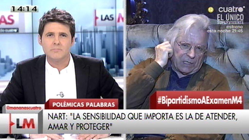 """Nart responde a la polémica: """"Nos perdemos en la palabrería, yo voy a la solidaridad"""""""