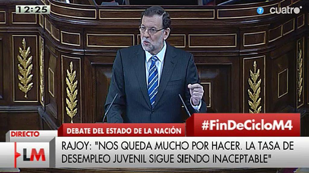 """Rajoy: """"La gran medida de política social de esta legislatura fue evitar el rescate"""""""