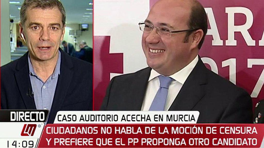 """Toni Cantó: """"Hoy le preguntamos al PP quién es el sustituto de Pedro Antonio Sánchez"""""""