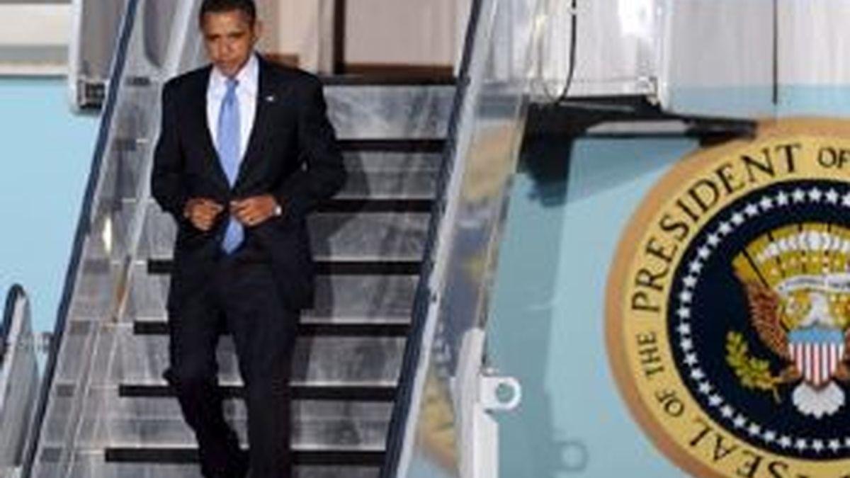 Barack Obama ya está en Alemania. Foto: EFE