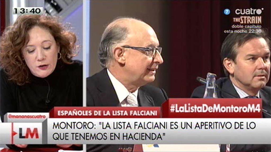 La carta de Cristina Fallarás a Montoro