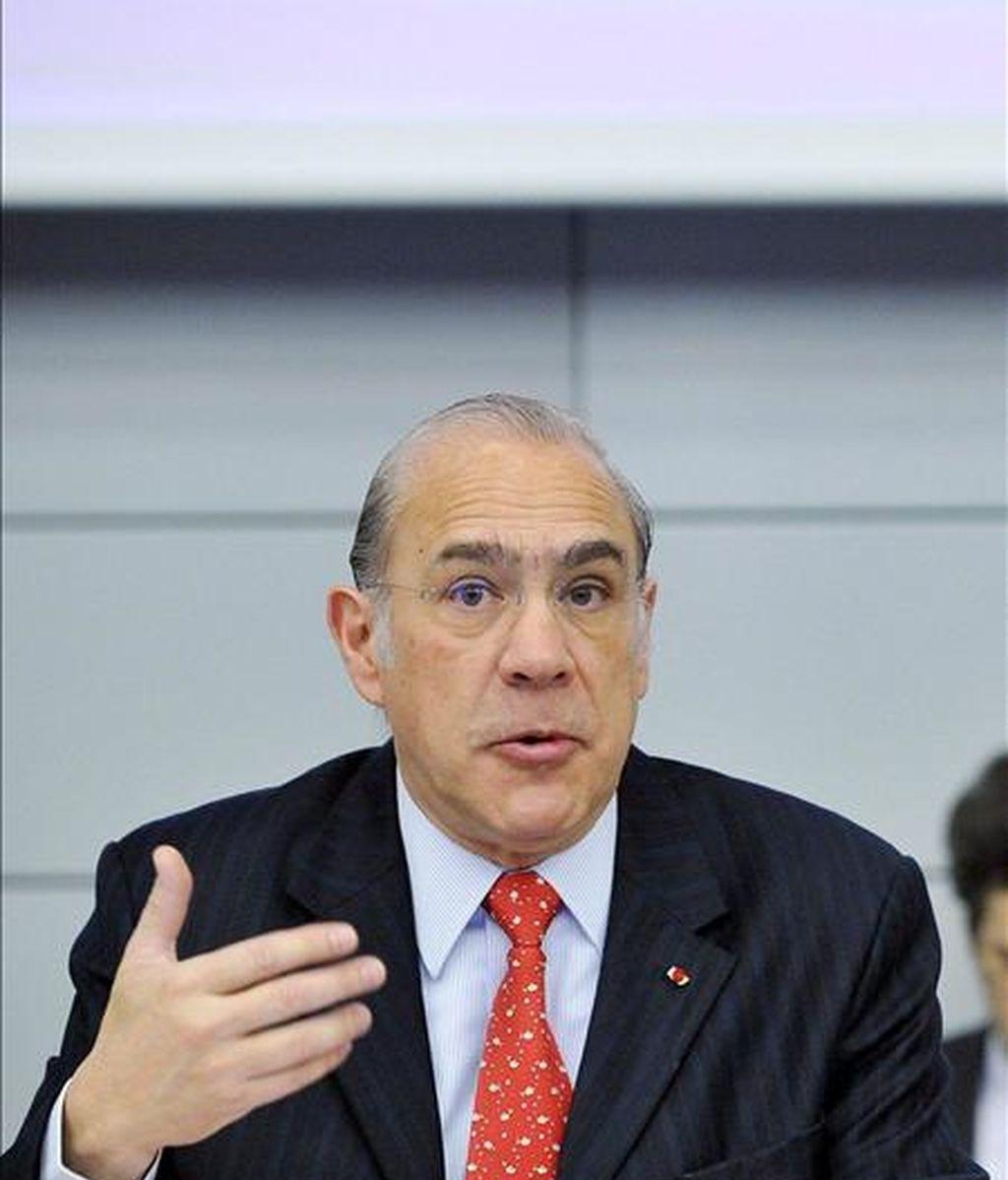 En la imagen, el secretario general de la Organización para la Cooperación y el Desarrollo Económico (OCDE). EFE/Archivo