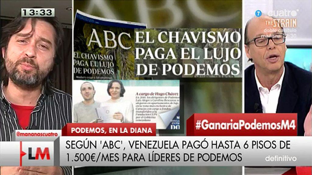 """R. Mayoral, sobre los 'lujos' de Podemos: """"Lo que dice 'ABC' es falso"""""""