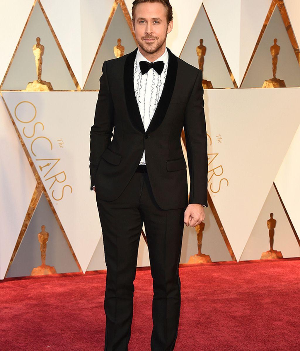 Ryan Gosling vestido de Gucci