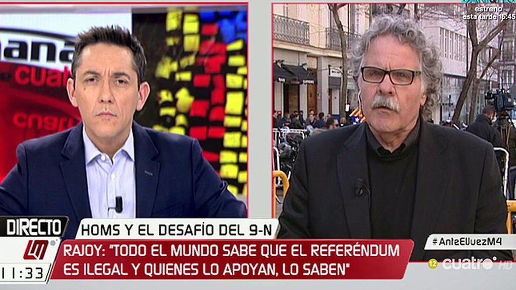 """Tardà: """"La administración española en lugar de optar por la vía del diálogo, ha optado por la de la represión judicial"""""""