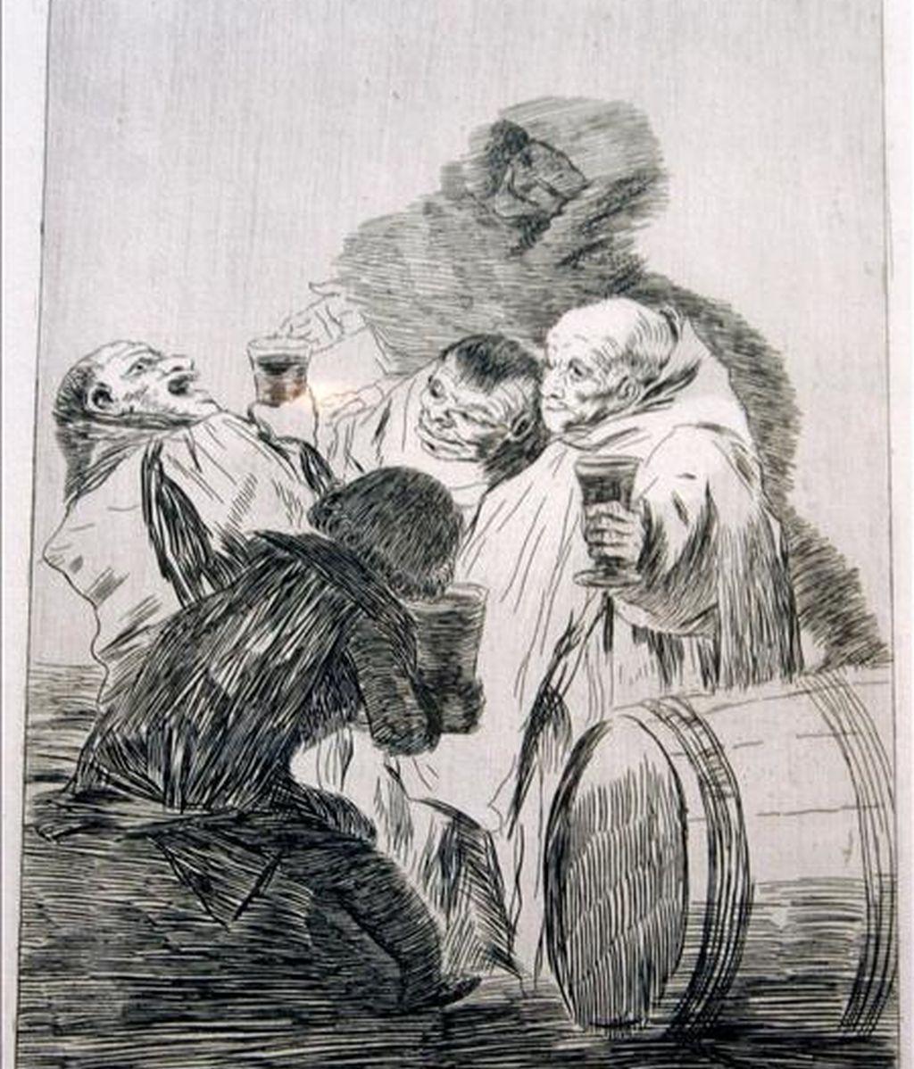 """El Museo Reina Sofía ha pedido al Museo del Prado 12 grabados de Goya, de ellos 7 """"caprichos"""", para incorporarlos a su colección en régimen de préstamo. En la imagen, uno de los grabados de la colección """"Los Caprichos de Goya"""". EFE/Archivo"""