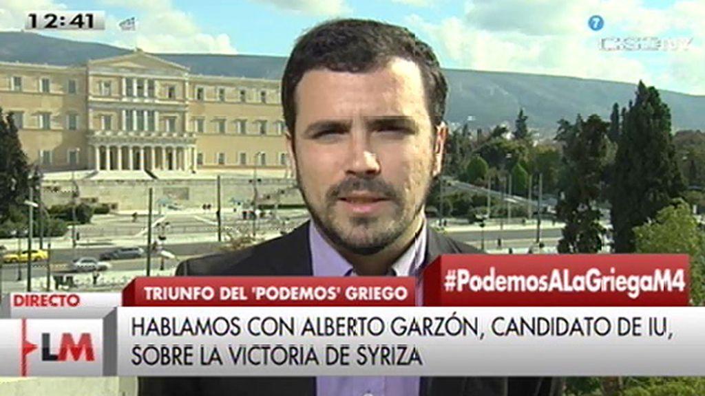 """A. Garzón: """"lo que se está viviendo en Grecia para muchos es una justicia histórica"""""""