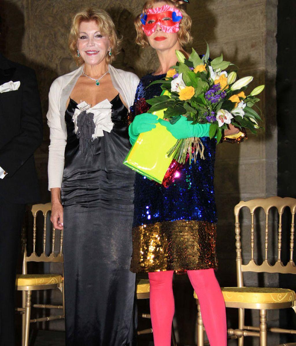 Isabel Pantoja, la baronesa Thyssen y Agatha Ruiz de la Prada, juntas de fiesta