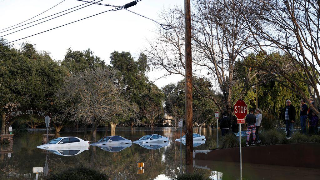Las inundaciones dejan así las calles de San José, en California