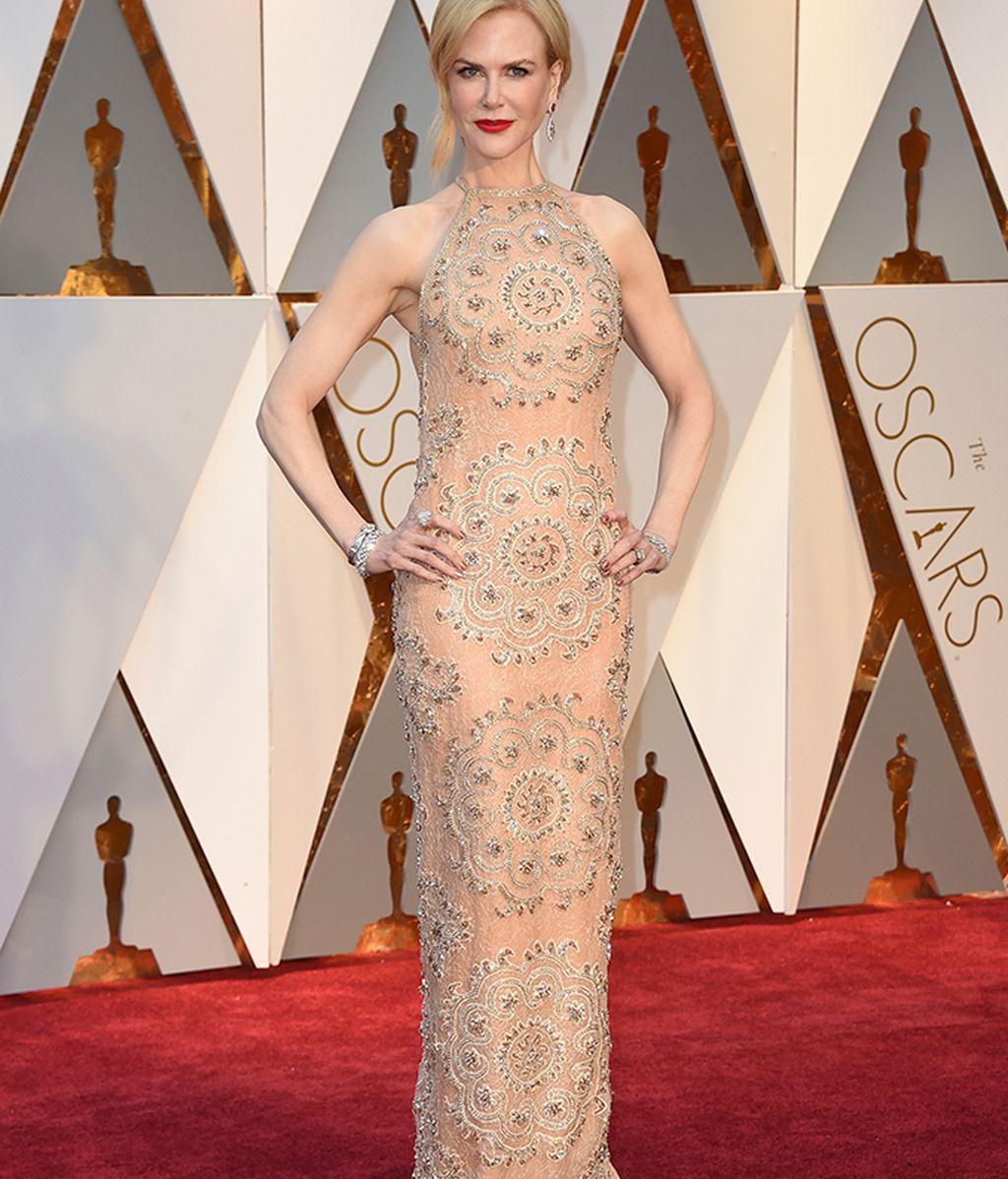 Nicole Kidman con vestido bordado de Armani