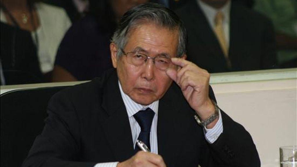 Fujimori fue condenado en primera instancia, el 7 de abril pasado, a 25 años de prisión por las matanzas de Barrios Altos y La Cantuta. EFE/Archivo