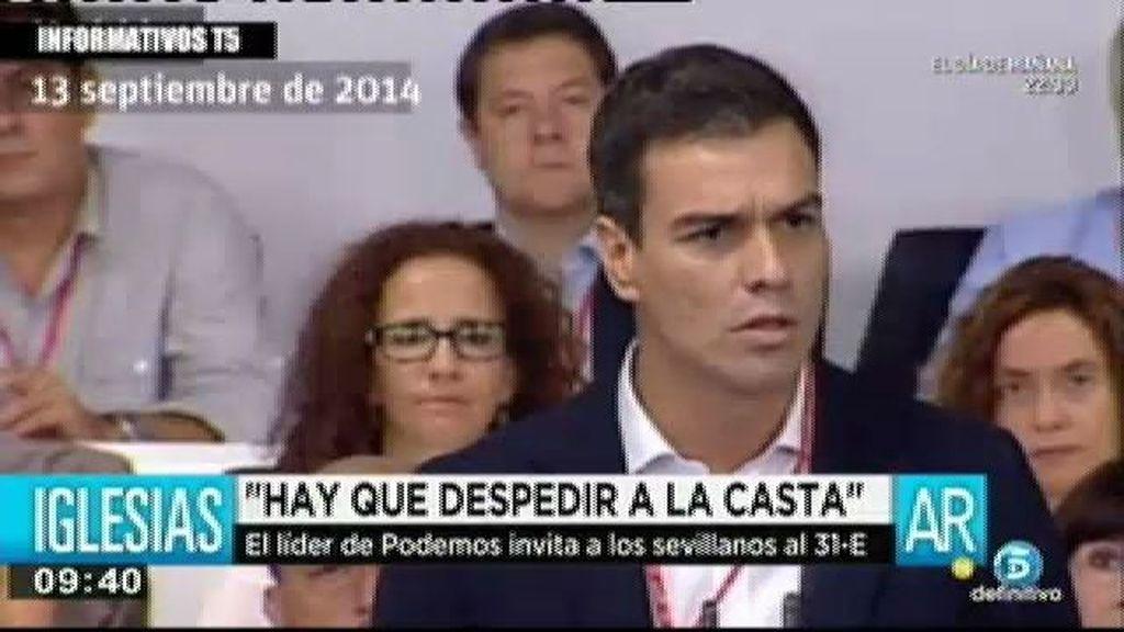 Pedro Sánchez acusa de mentiroso a Pablo Iglesias