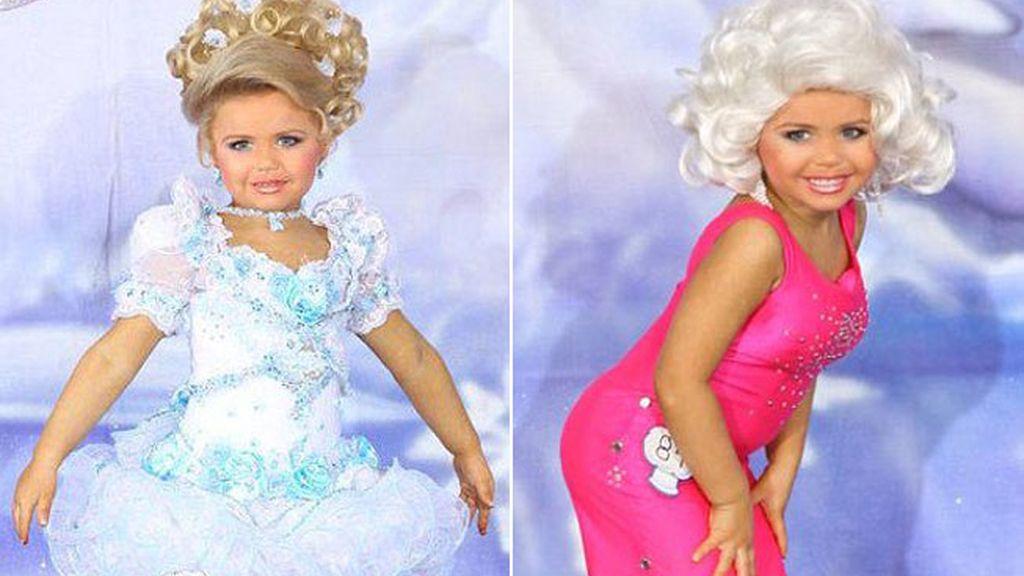 Maddy de cinco años participa en concursos de belleza infantil