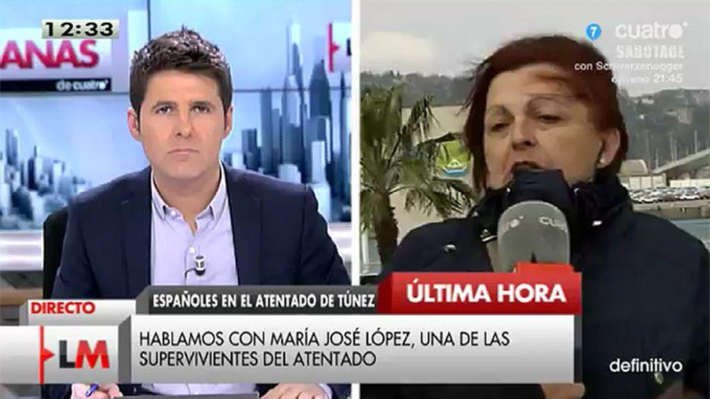 """Mª José López, superviviente del atentado: """"Cierro los ojos y sólo escucho las ráfagas"""""""