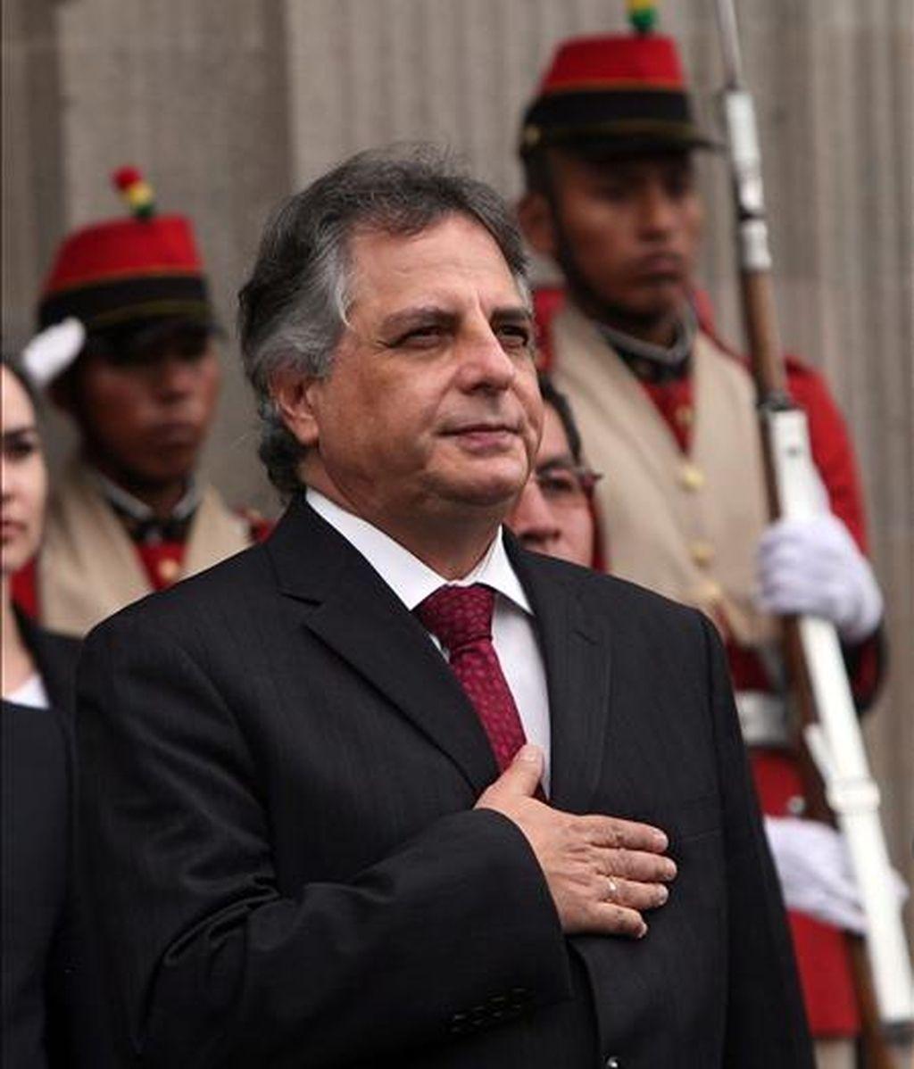 Rodríguez Cuadros fue elegido en los comicios internos que celebró FS el fin de semana, anunció hoy en una rueda de prensa el coordinador nacional de ese partido, Gustavo Guerra García. EFE/Archivo
