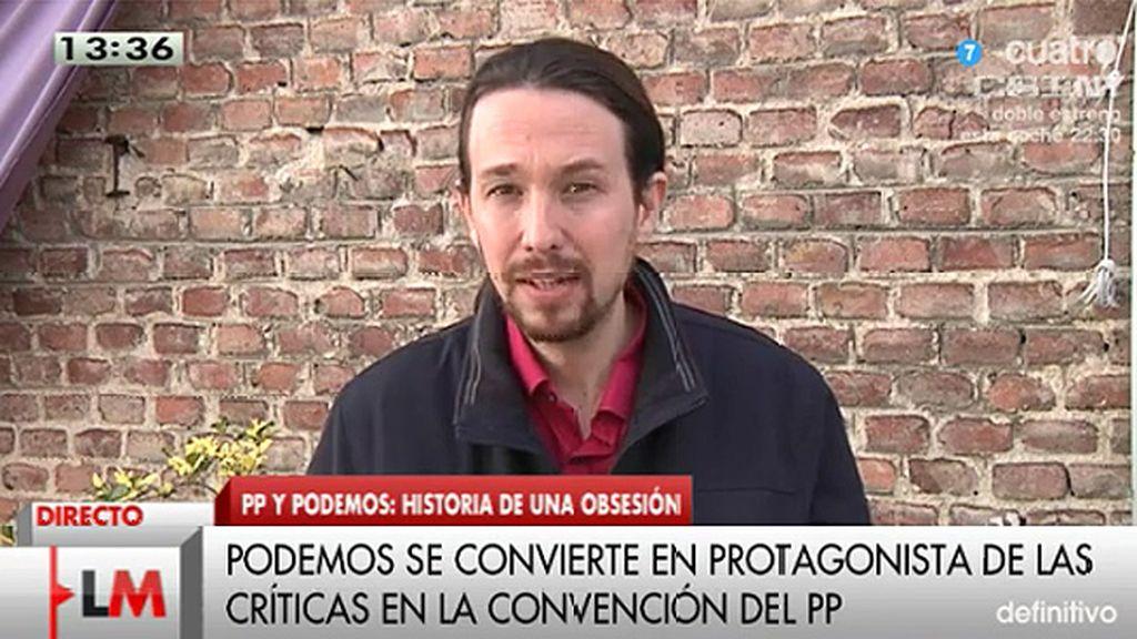 """P. Iglesias: """"Tic, tac, tic, tac, el 31 de enero empieza la cuenta atrás para Rajoy"""""""