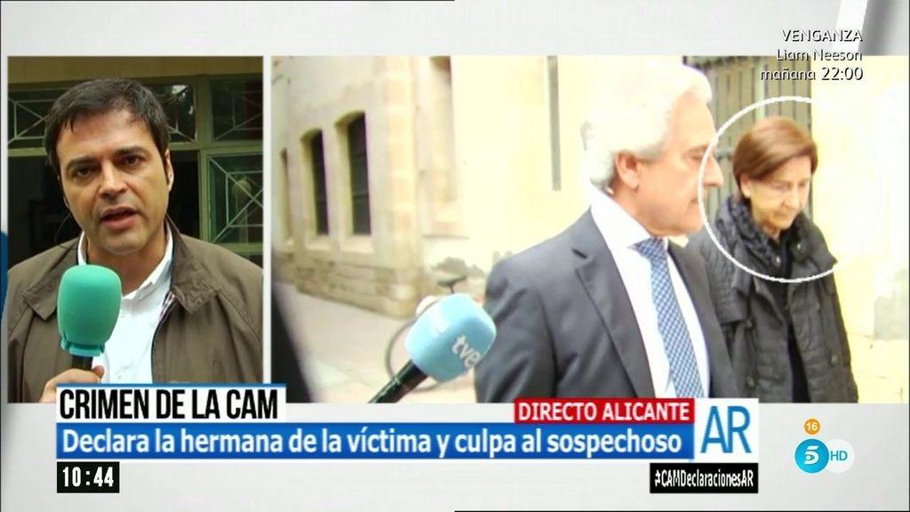 Crimen de la CAM: La hermana de la víctima culpa a Miguel López ante el juez