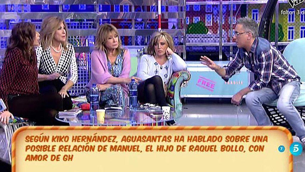 """Kiko: """"Aguasantas ha dicho en la casa que Manuel Cortés tuvo una relación con Amor"""""""