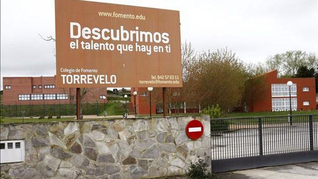 Vista de la entrada del colegio privado Torrevelo, del grupo Fomento de Centros de Enseñanaza, vinculado al Opus Dei. EFE